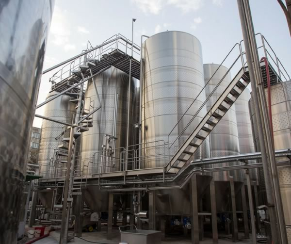 Wine produced on industrial scale